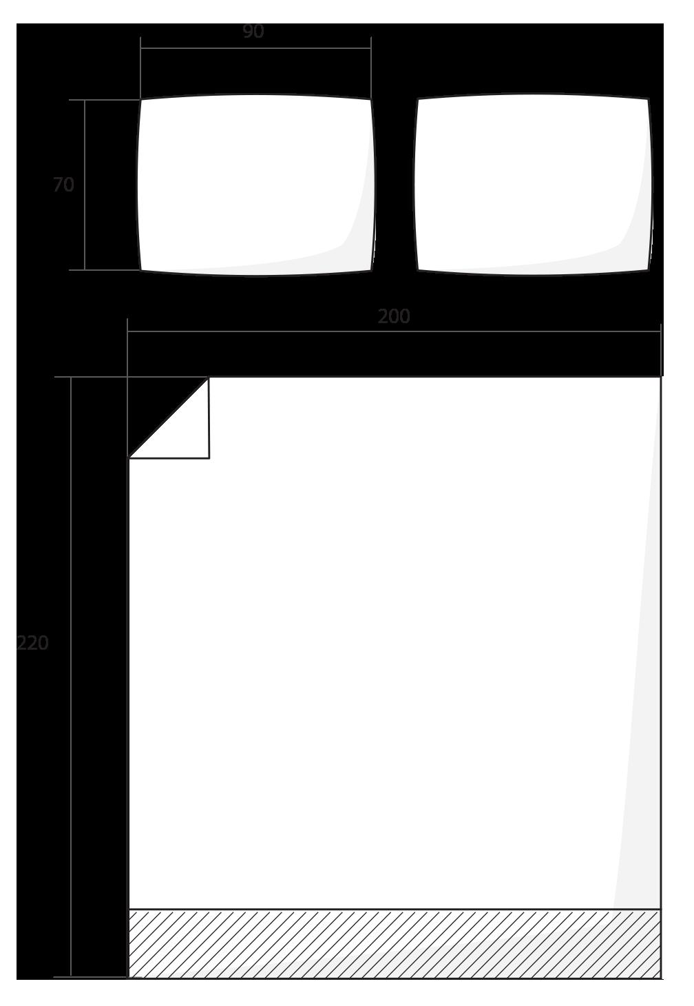 ilustrace francouzské povlečení 200x220