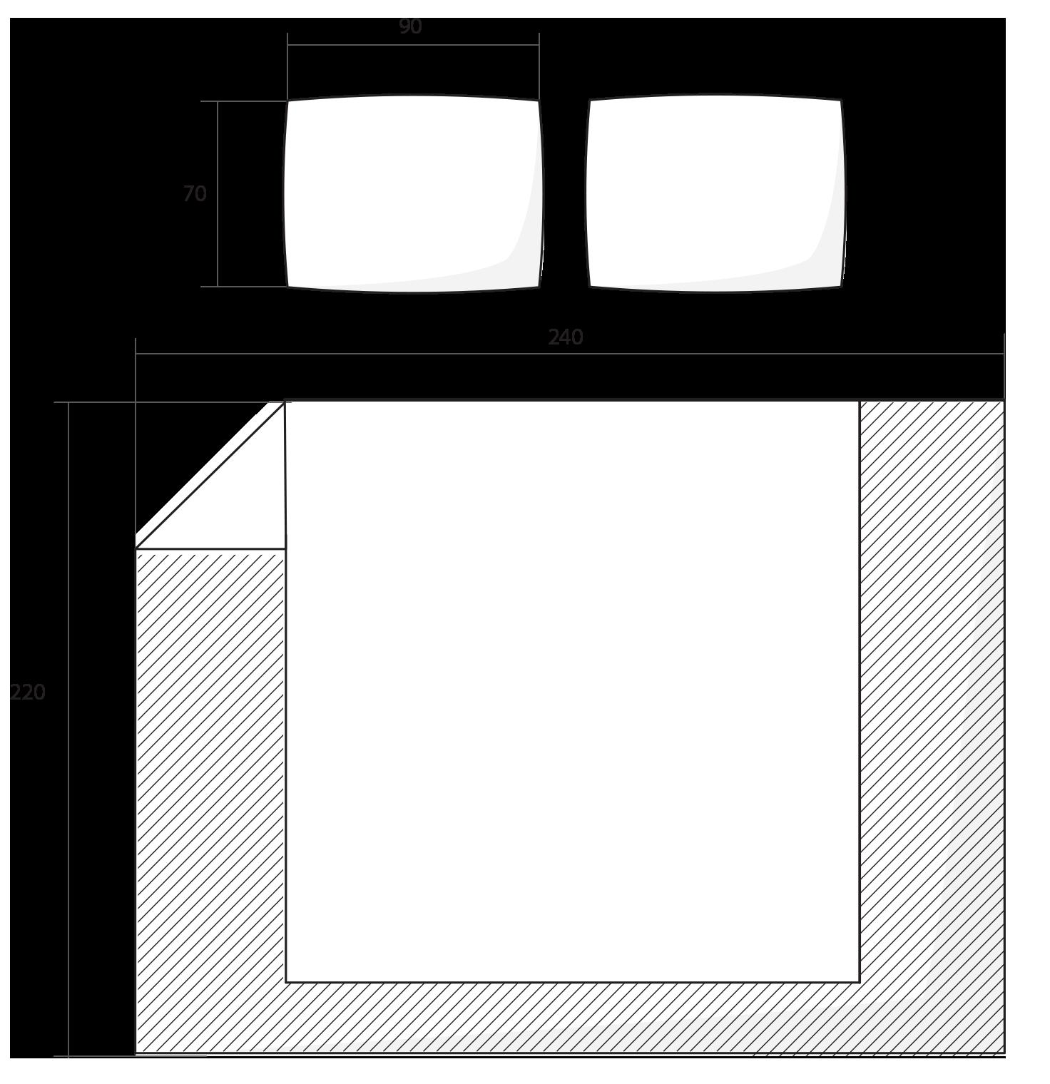 ilustrace francouzské povlečení 240x220
