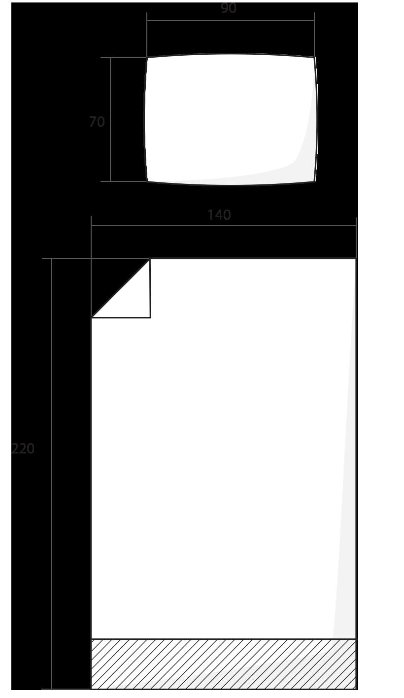 ilustrace prodloužená délka povlečení